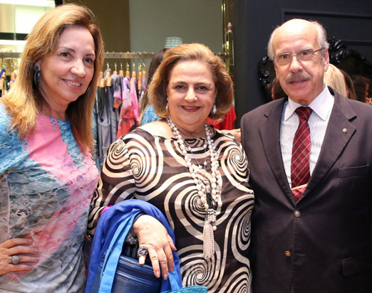 Sumaya Neves com Cristina e Claudio Aboim
