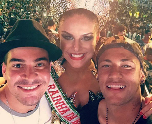 Thiago, Paloma e Neymar