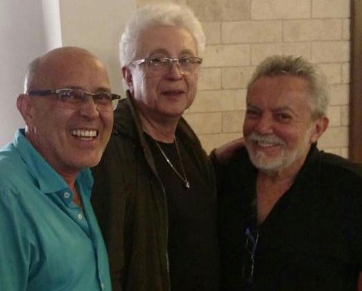 Aguinaldo Silva entre Evandr Jr e Mario Borriello