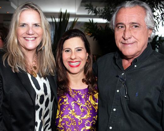 Alice Tamborideguy entre Maninha e Leleco Barbosa