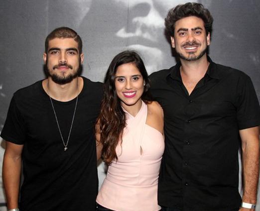 Caio, Camilla e João Gabriel