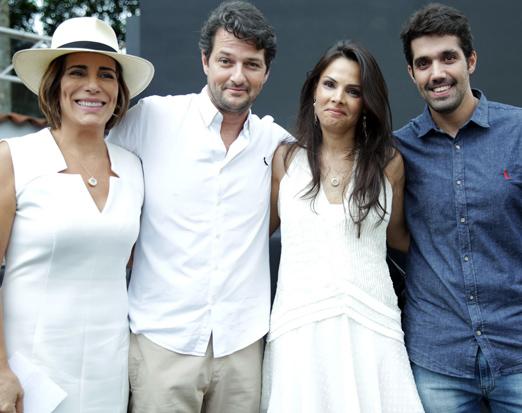Glória Pires, Marcelo Serrado, Fernanda Coque Cardoso e Leonardo Pazzini