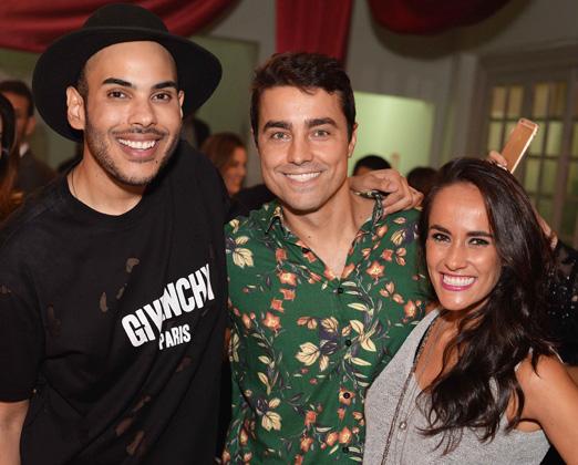 O aniversariante com Ricardo Pereira e Francisca Pinto