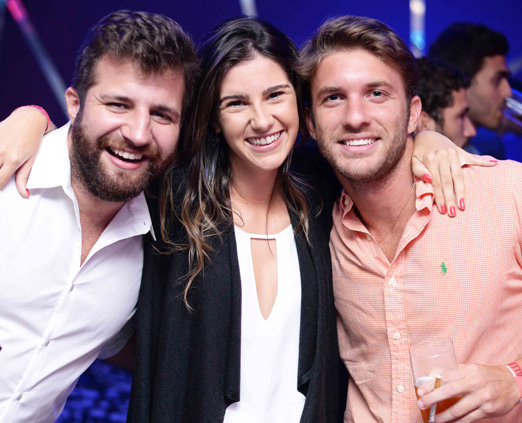 André Barros, Victoria Rezende e Guilherme Vianna