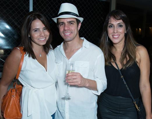 Bruna Sideris, Luis Fernando Amorim e Andressa Fonseca
