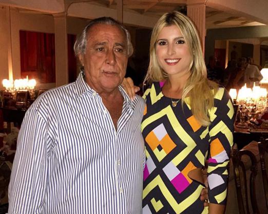 Leleco com a filha Dandynha Barbosa