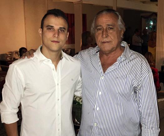 Leleco com o filho Artur Barbosa