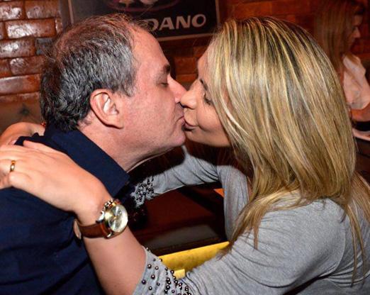 Luiz Claudio Berman e a mulher Veronica