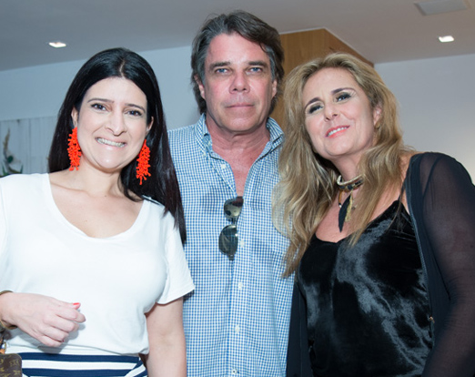 Mariana Fonseca, Eduardo Fischer e Patricia Hall