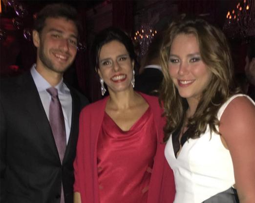 Narcisa Tamborindeguy com a filha Catharina e o genro Luis Felipe Pereira
