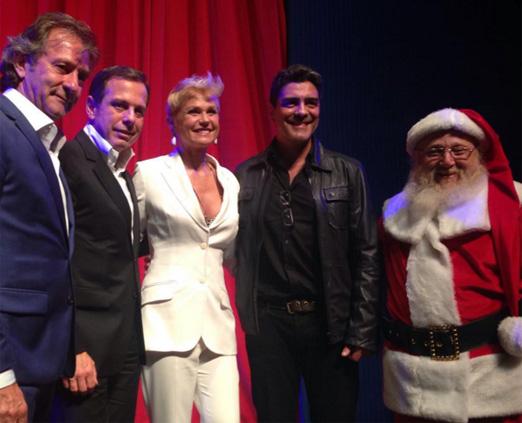 Sergio De Nadai, João Doria, Xuxa, Junno Andrade e o Papai Noel