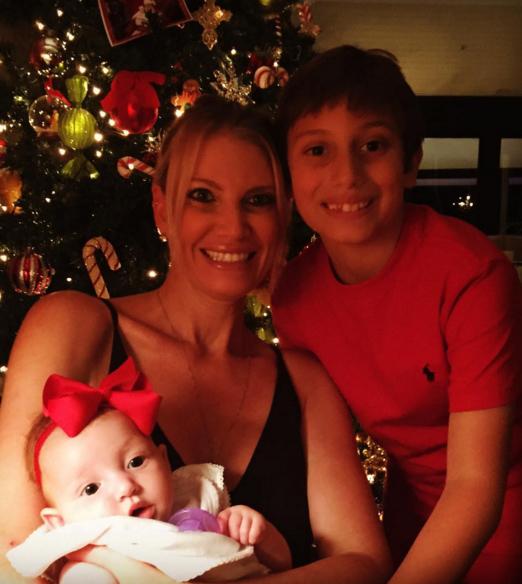 Tati com os filhos Henrique e Sara