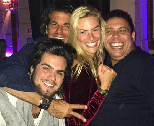 Álvaro, Alvarinho, Cecilia e Ronaldo