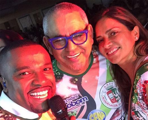 Alexandre Pires, Jayder Soares e Sara Campos