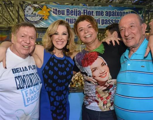 Boni, Claudia Raia, David Brazil e Anísio Abraão David