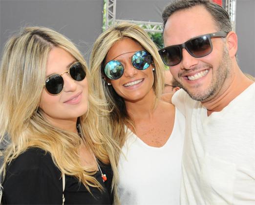 Carol Veras, Fernanda Prado e Renato Primo