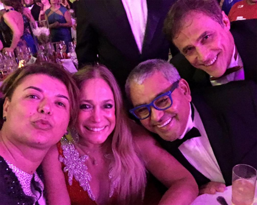 David Brazil, Susana Vieira, Jayder Soares e Oscar Magrini