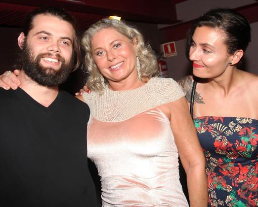 Vera Fischer com os filhos Gabriel e Rafaela