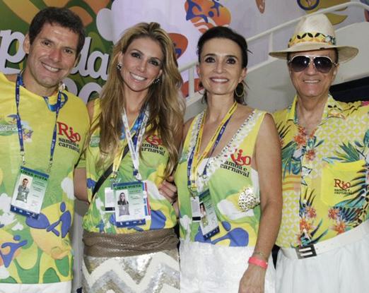 Alexandre Accioly, Renata Padilha, Andréa Natal e Maurício Mattos