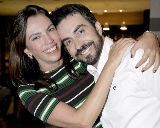 Ana Paula Araújo e o Padre Fábio de Mello