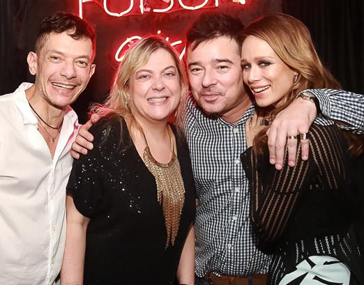 André Piva, Heloisa Tolipan, Carlos Tufvesson e Mariana Ximenes