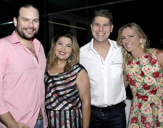 Bruno Muniz, Fabiana Karla, Cacau Hygino e Márcia Veríssimo