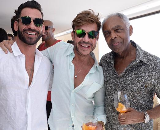 Marlon Gama, Carlos Rodeiro e Gilberto Gil