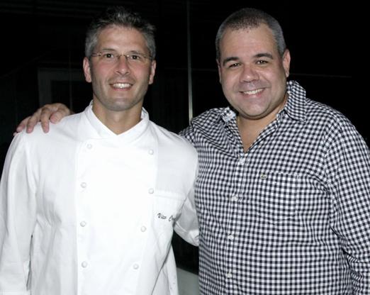 O chef Vico Crocco e Marcus Montenegro