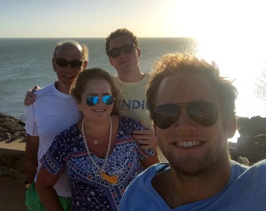 Renata e Paulo Fraga com os filhos Roberto e Rafael