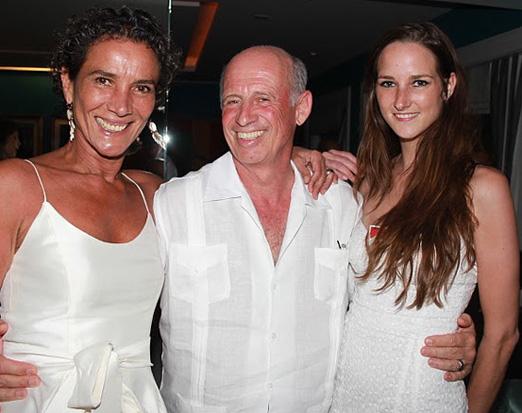 Willy Bogner com Sonia e Florindinha
