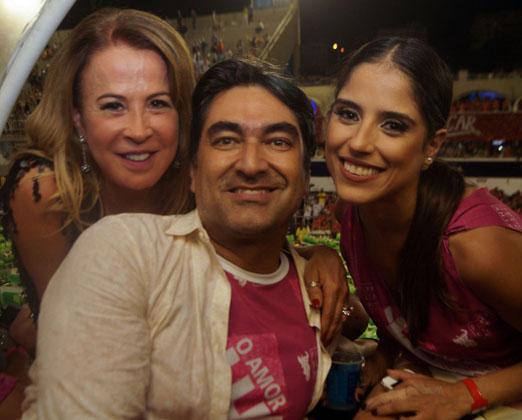 Zilu Camargo com a filha Camila e Zeca Camargo