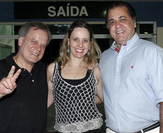 Chico Pinheiro, Leda Pinheiro e Omar Peres, o Catito