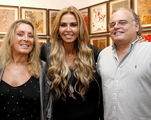 Giovanna Deodato, Nina Stevens e Helcius Pitanguy