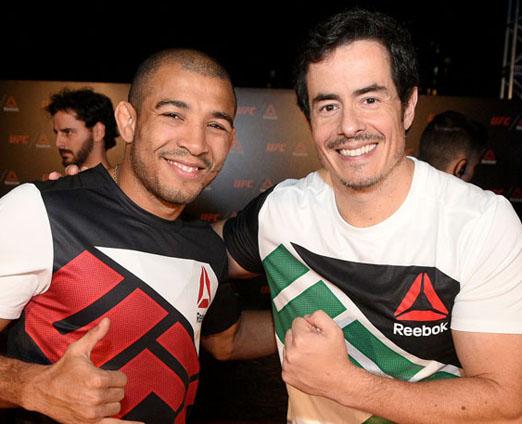 José Aldo e Felipe Folgosi
