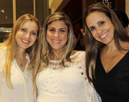 Maisa Vasconcelos, Janine Sad e Claudia Dutra