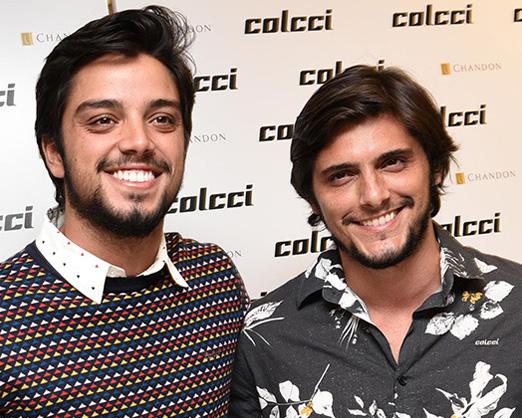 Os irmãos Rodrigo Simas e Bruno Gissoni