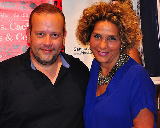 Rogério Vasconcelos com Sandra