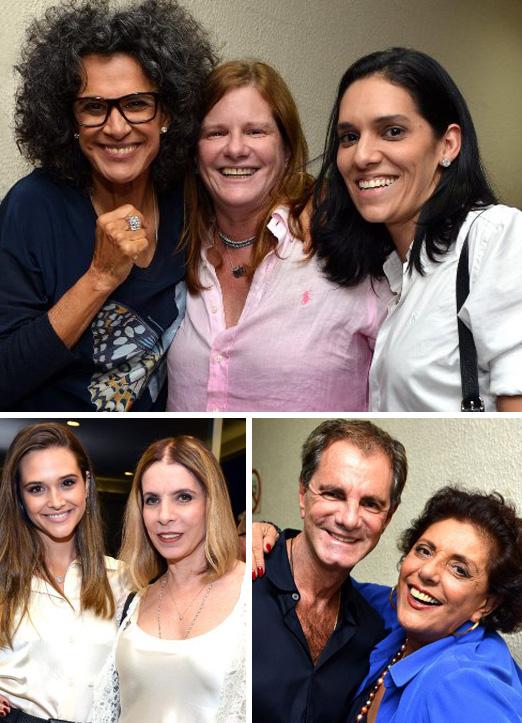 Simone com Maria Geyer e Thaís Araújo; Edgar Moura Brasil e Leda Nagle; Juliana Paiva e Liège Monteiro