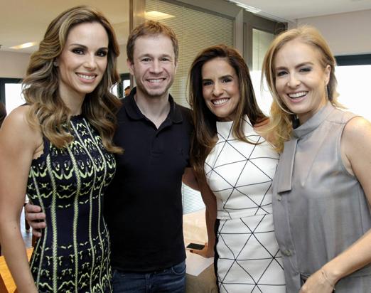 Ana Furtado, Tiago Leifert, Daniela Alvarenga e Angélica