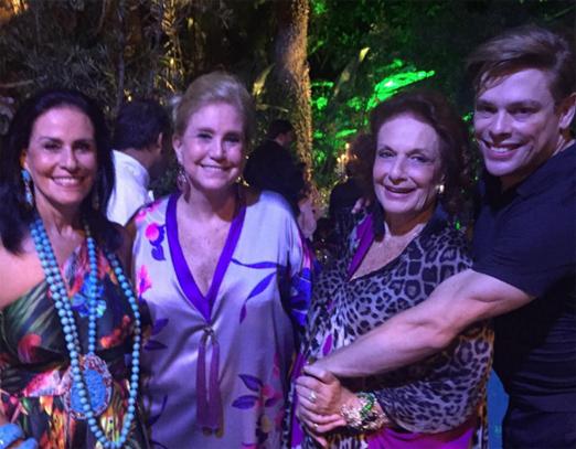 Beth Pinto Guimarães, Madeleine Saade, Eliana Moura e Bruno Chateaubriand