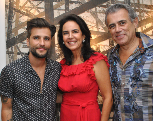 Bruno Gagliasso, Joy Garrido e Sergio Gonçalves