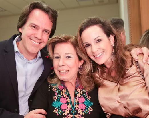 Cayo Costa, Viviane Cohen e Suzana Galdeano