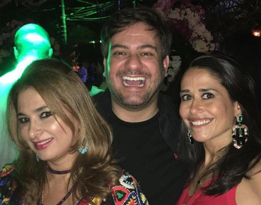 Cris Senna, Bruno Astuto e Paula Severiano Ribeiro