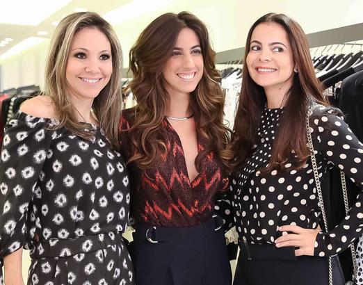 Alessandra Amaral, Luiza Sobral e Isabela Menezes
