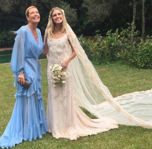 Donata Meirelles e a filha Heleninha