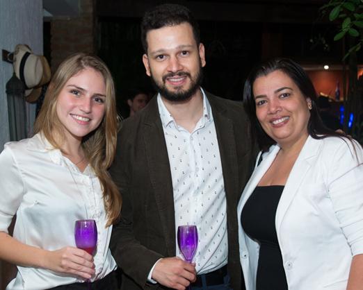 Juliana Vidal, Rafael Martins e Claudia Coutinho