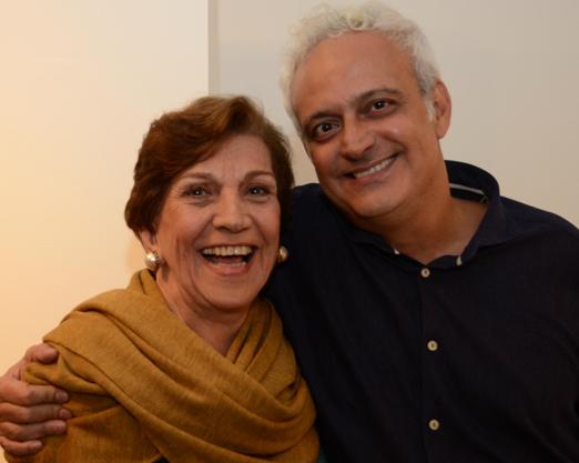 Maria de Castro e seu filho Gustavo Rebello