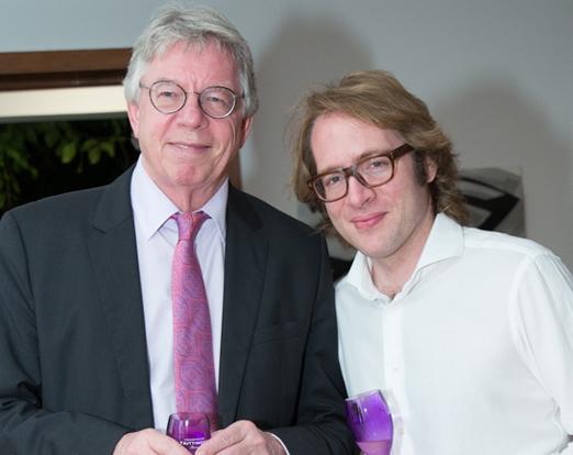 O cônsul alemão Harald Klein e Clovis Taittinger