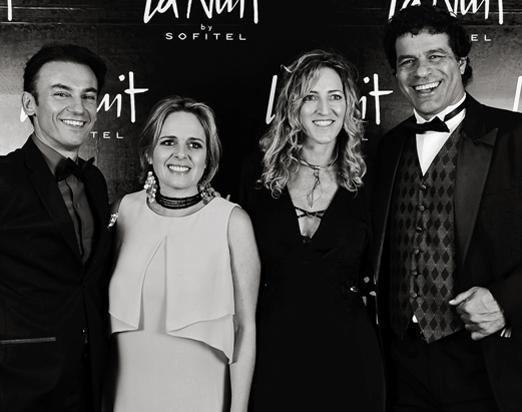 Patrick e Frederique Mendes com Viviane Fescher e Raí