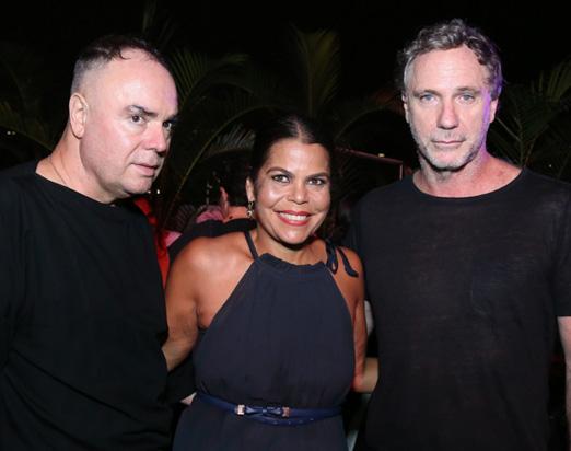 Reinaldo Lourenço, Daniela Falcão e Oscar Metsavaht